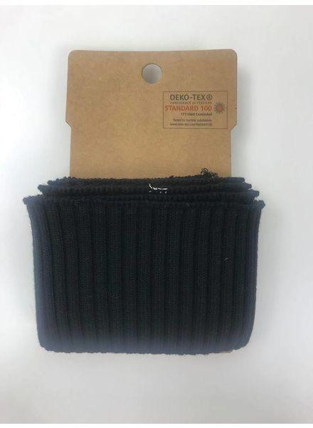 cuff met ribbels - zwart