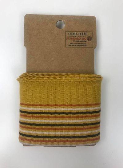 cuff with stripes -ochre