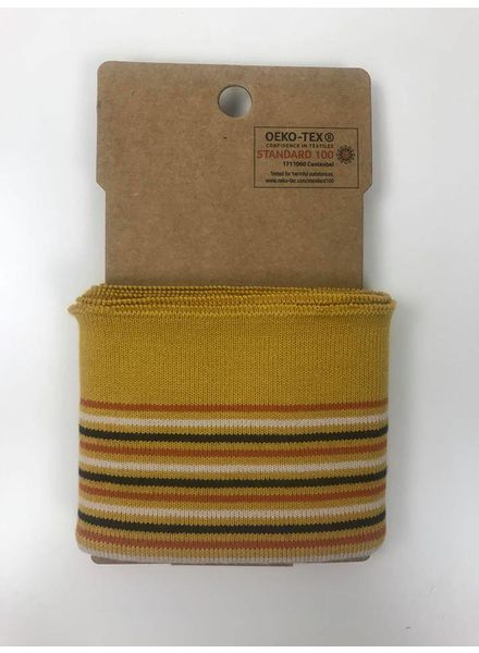 cuff with stripes -ochre