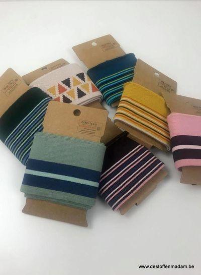 cuff met streepjes - groen