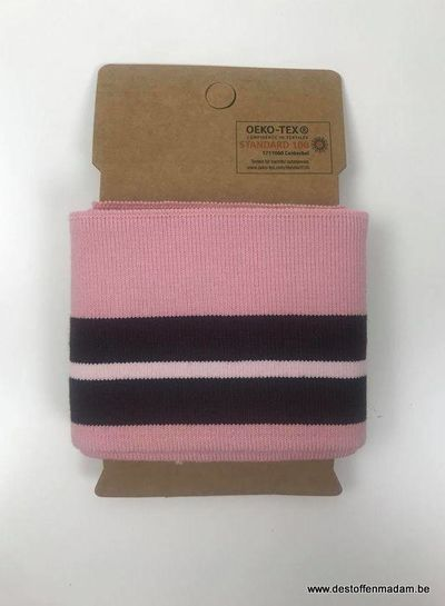 cuff with two stripes - pink