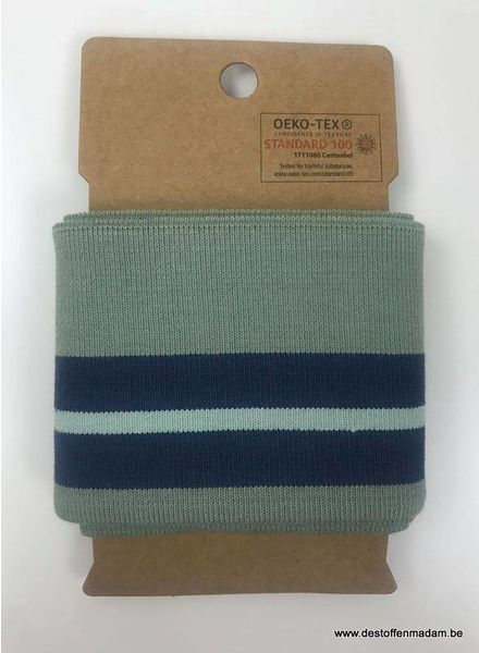 cuff with two stripes - mint
