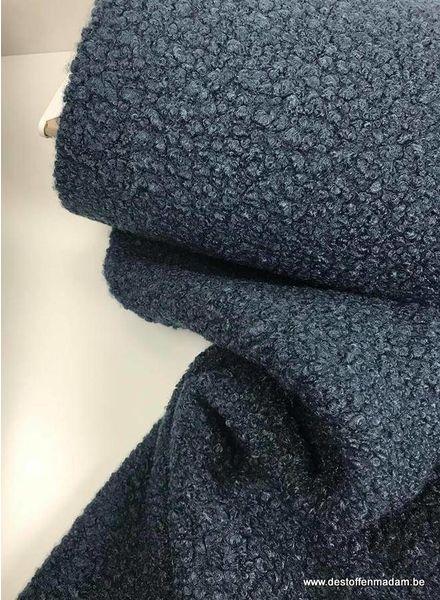 dark blue boucle fabric