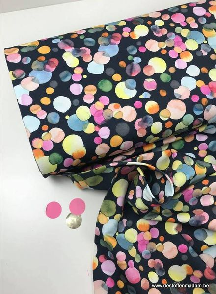 watercolor confetti - french terry S
