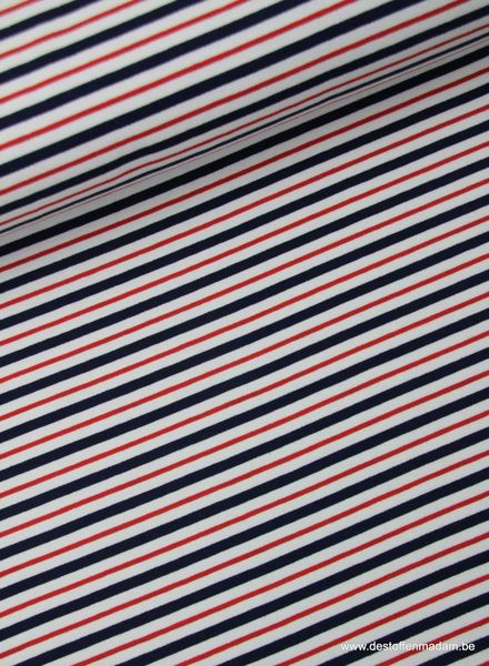 blue and red stripes - french terry S