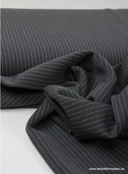 dark grey thin stripe - tencel stretch
