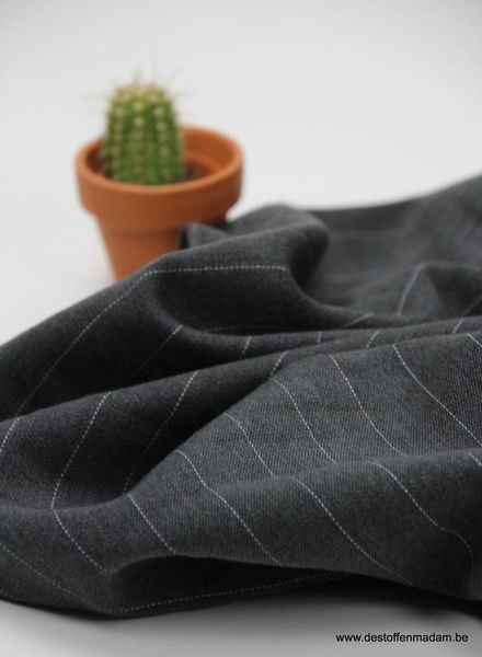 darkgrey wide stripes - stretch tencel S