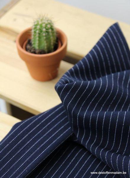 navy thin stripes - tencel stretch