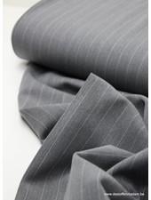 grey wide stripes - tencel stretch