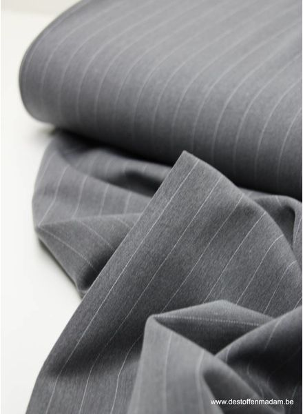 grey wide stripes - tencel stretch