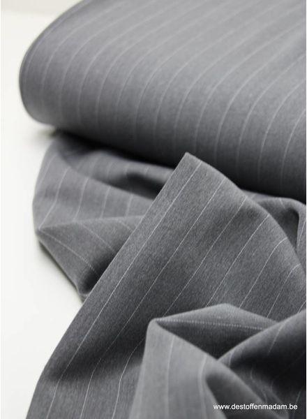 grijs brede streep - rekbare tencel