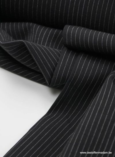 black thin stripes - tencel stretch S