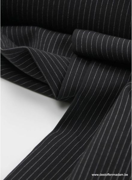 black thin stripes - tencel stretch S