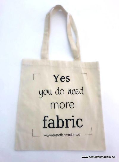 herbruikbare zak Madeline - You do need more fabric