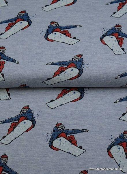 blauw snowboard - dunne sweater