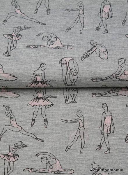 dansende ballerina's grijs - dunne sweater