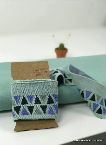 cuff triangles - mint