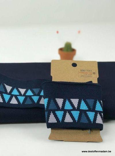 cuff triangles  - blue
