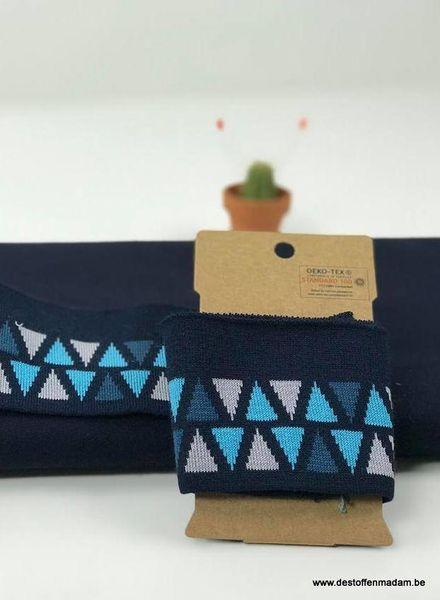 cuff driehoekjes - blauw