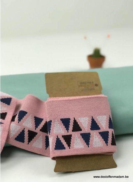 cuff driehhoekjes - roze