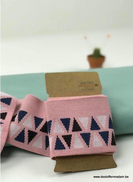cuff triangles - pink
