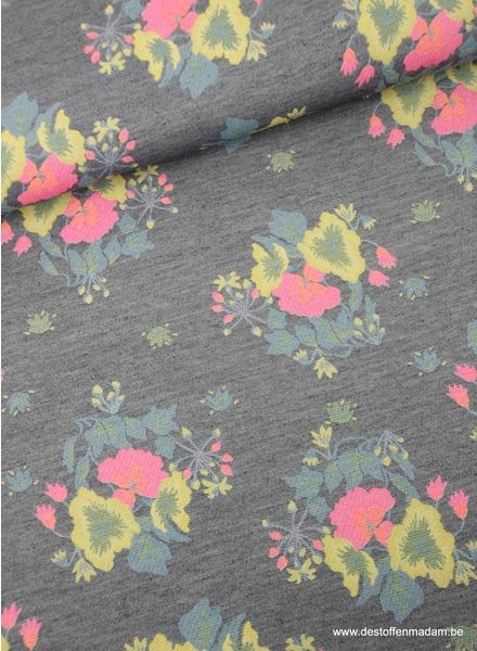 bright flowers - geweven jacquard