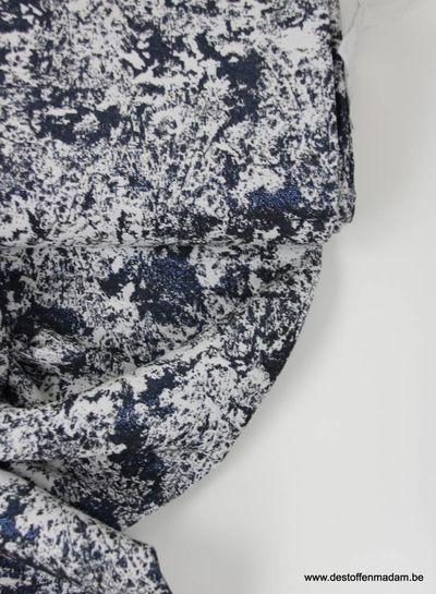 marble blue lurex - geweven jacquard
