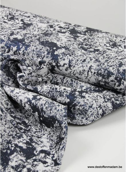 marble blue lurex - geweven jacquard