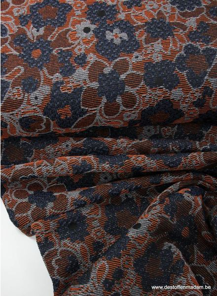 rusty flowers - geweven jacquard
