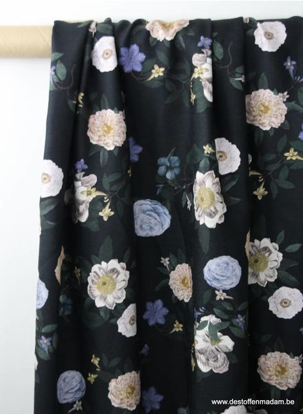 classic flowers - viscose twill