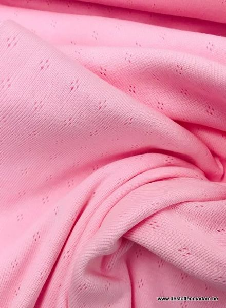 pink ajour - knitted jersey