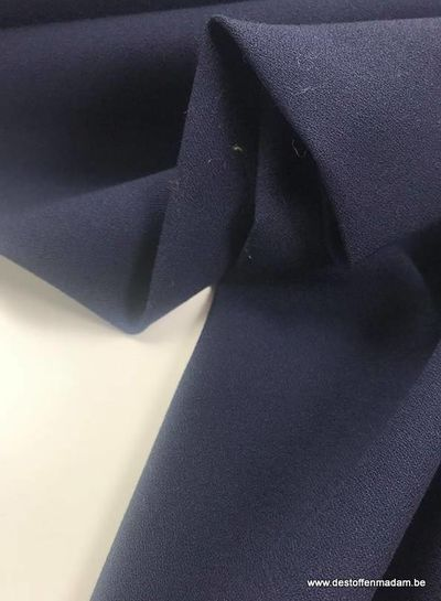 navy - winter crepe elasthan