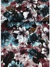 bordeaux flowers sweater