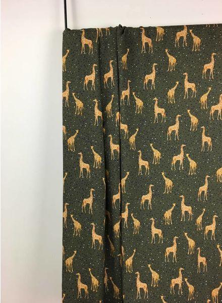 khaki giraffe viscose