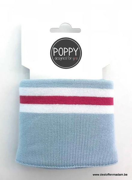 cuff blauw/fuchsia - Poppy designed for you
