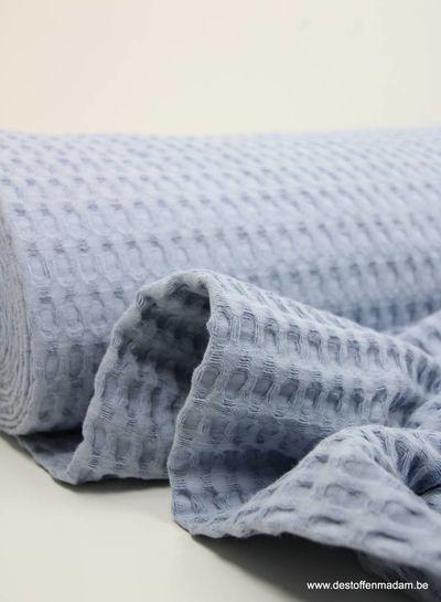 babyblauw wafelkatoen XL