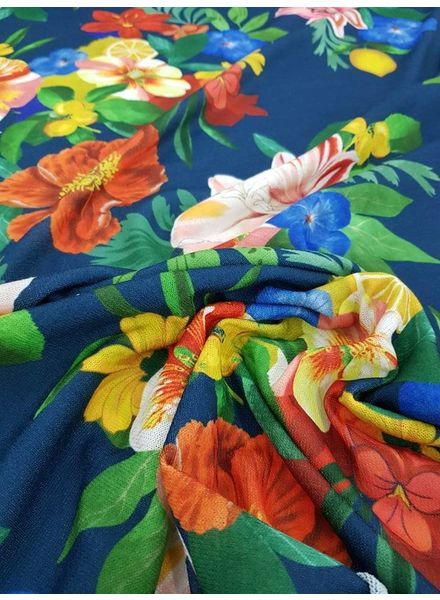 Sunny flowers - knitted fabric