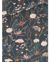 PRE-ORDER - beschikbaar 8/1 Flower Field French Terry - Nachtblauw