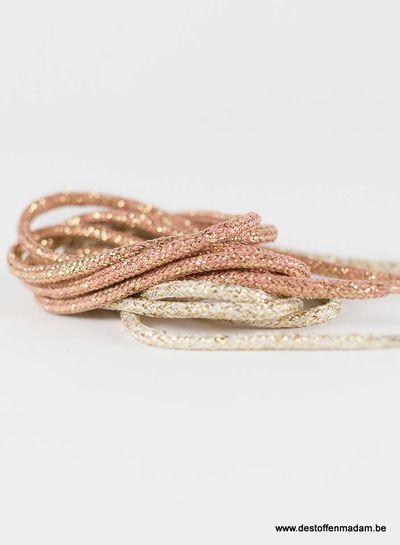 Shoelaces - Rosé with Gold Lurex