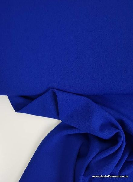 cobalt blue scuba crepe - Ruby Jurk