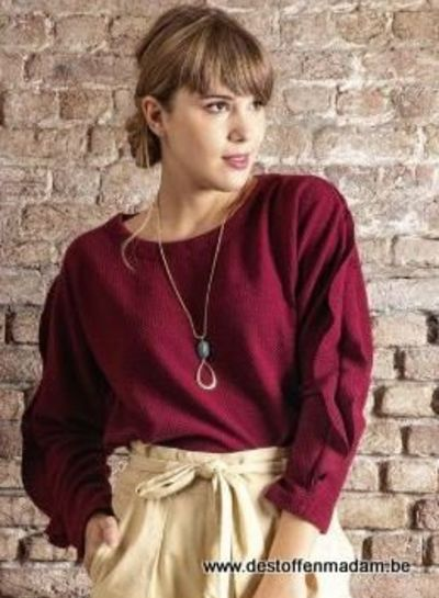 Mandy sweater - stretch textured knit fabric