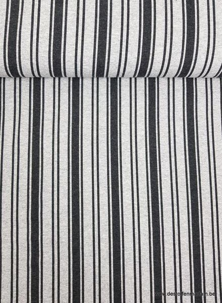 black vertical stripes french terry