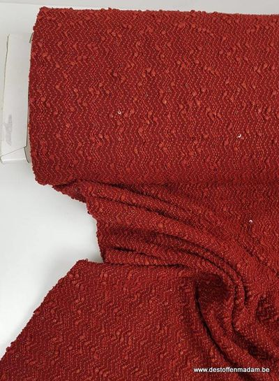 wine red fabric with sequins