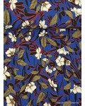 kobaltblauwe structuurtricot met bloemen