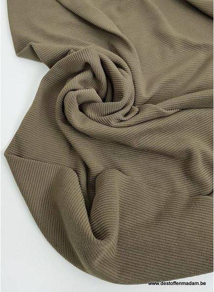 khaki textured knit fabric