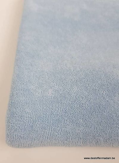 baby blue stretch sponge or terry