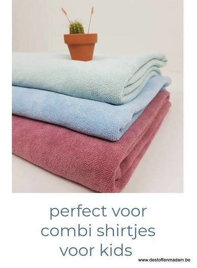 babyblauw rekbare badstof/spons
