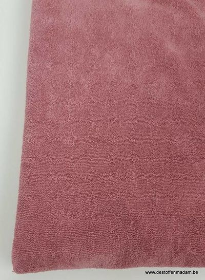 dusty pink stretch sponge or terry