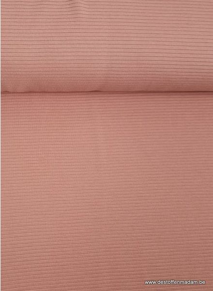 salmon pink - textured knit fabric
