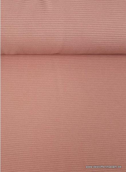 zalm roze - relief structuur tricot